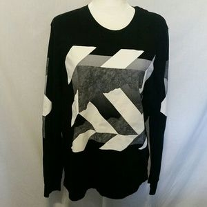 American Eagle Outfitters Blk/White Top Size L